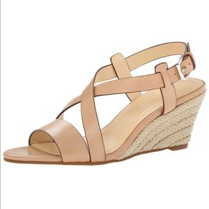 Cole Haan Leather Taylor Wedge Espadrille Sandal